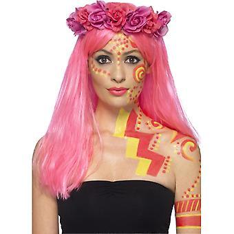 Schmink Set Neon UV Dancer 2 Farben mit Spachtel pink neongelb