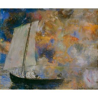 Odilon Redon - Flower Clouds Poster Print Giclee