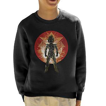 Vörös Saiyan Storm Vegeta Dragon Ball Z kölyök ' s Sweatshirt