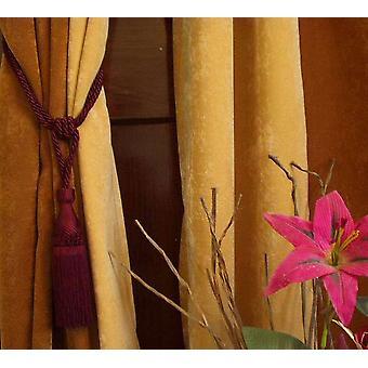 Marrone rossiccio a mano tenda Tieback / Tiebacks / nappa - coppia