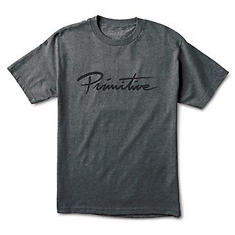 Primitive Apparel Nuevo Script T-Shirt Grey