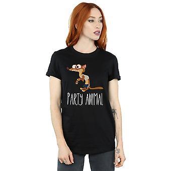 Zootropolis Disney feminino festa Animal namorado ajuste t-shirt