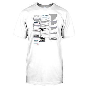 Ecuación de física de caída libre Batman - Super Cool Kids T Shirt