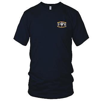 Yhdysvaltain laivaston aseita Luokitus Special Warfare veneen toimija kirjailtu Patch - Miesten T-paita