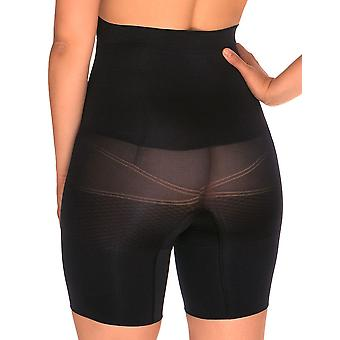 Sans Complexe 699153 Women's Slimmers Black Firm/Medium Control Slimming Shaping High Waist Long Leg Brief