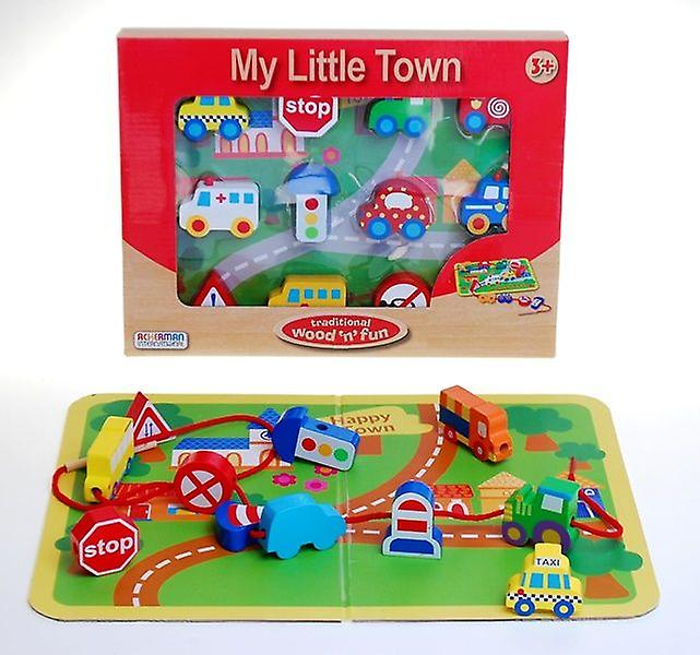 Ackerman Traditional Wood 'n' Fun My Little Town Vehicle Bead Game 3y+
