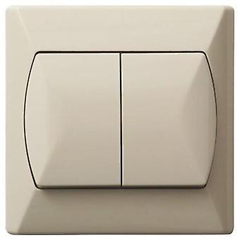 פשוט לחצנים כפולים בסיסיים מקורה למתג אור לחץ על הלוח שלושה צבעים
