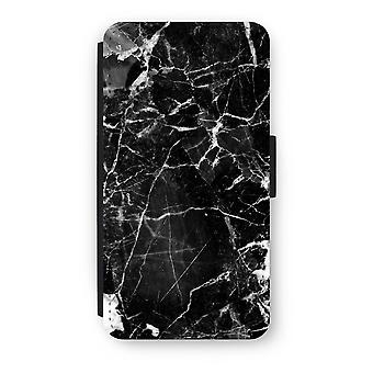 iPod Touch 6 Flip Case - Black Marble 2