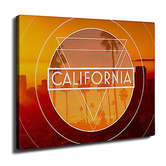 California Palm Wall Art Canvas 40cm x 30cm | Wellcoda