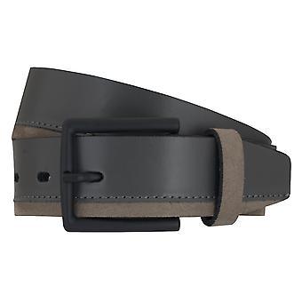 Cinturones de cinturón cinturones de hombres LLOYD de cuero correa zapatilla de deporte gris 6890