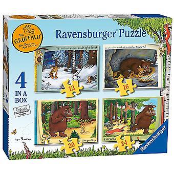 Ravensburger Gruffalo 4 i boksen (12, 16, 20, 24pc) stikksag