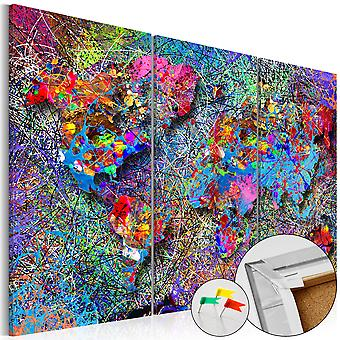 Afbeelding op kurk - Colourful Whirl [Cork Map]