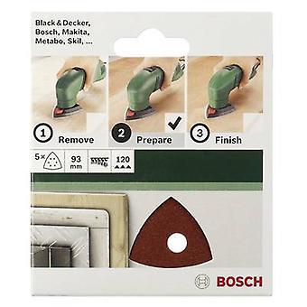 Accessori Bosch 2609256A53 Delta smerigliatrice lama gancio-e-ciclo-backed, perforato grana dimensioni larghezza 240 attraverso angoli 93 mm 5/PC
