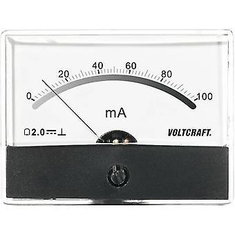 Misuratore analogico con montaggio a rack VOLTCRAFT AM-86 X 65/100MA