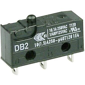 ZF Microswitch DB2C-A1AA 250 V AC 10 A 1 x On/(On) momentary 1 pc(s)