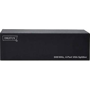 Digitus DS-42110 4 porty Rozdzielacz VGA 2048 x 1536 p Czarny