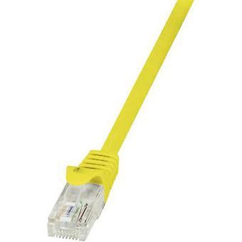 لوجيلينك RJ45 شبكات كابل CAT 6 U/UTP 0.50 م الأصفر cl. detent
