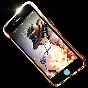 Przenośnej walizce LED Licht Zadzwoń do telefonu Apple iPhone 5 / 5 s / SE różowy