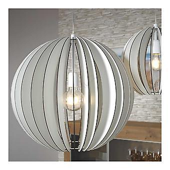 EGLO Cossano 500mm White Wash trä Globe siluett hänge