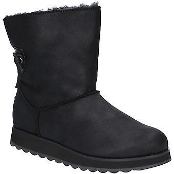 Skechers Womens Keepsakes 2.0 Soft Suede Faux Fur Boots