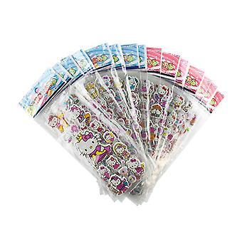 Hello Kitty Klistermärken i 3D - 4 st Ark (ca 48 st)