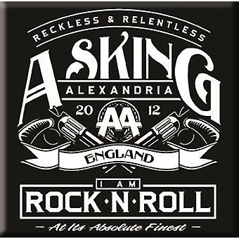 Asking Alexandria Fridge Magnet band logo Rock n Roll new Official 76mm x 76mm