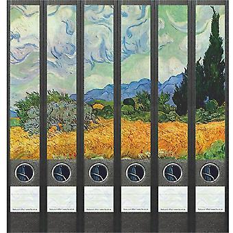 Rugetiket Vincent van Gogh 6 etiketten