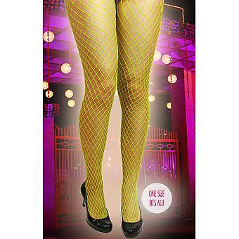 Strümpfe und Bein Zubehör Fishnet Strümpfe Neon gelb