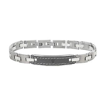 MASERATI - bracelet - mens-steel leather - JM218AMD02