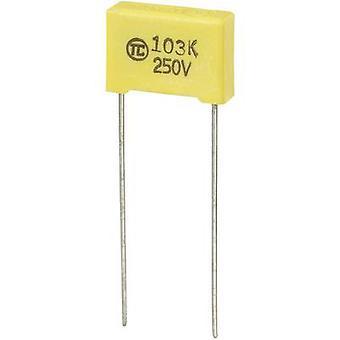 TRU COMPONENTS 1 szt.) KONdensator cienkowarstwowy MKS Przewód chłodniowy 0,01 μF 250 V DC 5 % 10 mm (L x W x H) 13 x 4 x 9 mm