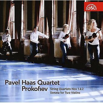 S. Prokofiev - Prokofiev: String Quartets Nos. 1 & 2; Sonata for 2 Violins [CD] USA import