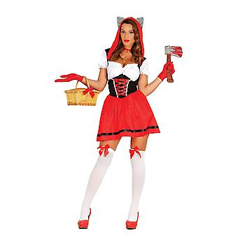 Womens Sexy Little Red Riding Hood Fancy Dress Costume