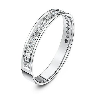 Star Wedding Rings 18ct White Gold 0.25 Carat Diamond Eternity 3.5mm Wedding Ring