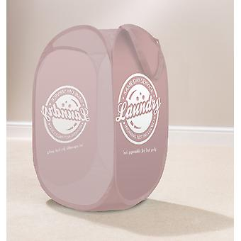 Country Club Pop Up Laundry Hamper, Same Day Pink