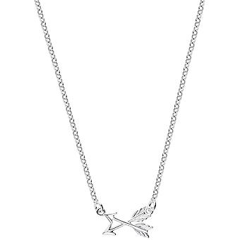 Bella Arrow Drop Necklace - Silver
