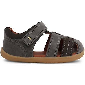 Bobux Step Up Boys Roam Sandals Charcoal Grey