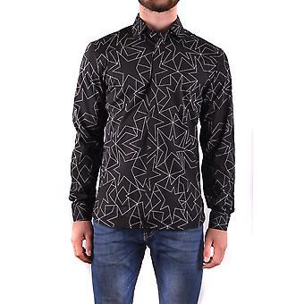 Neil Barrett Ezbc058062 Männer's schwarze Baumwolle Shirt