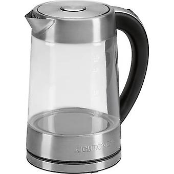 Clatronic WK3501G Kettle cordless Glass, Stainless steel