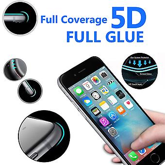 For Apple iPhone 6 - 5D Curve Edge Full Coverage 9H Hardness Tempered Glass (2 Pack) by i-Tronixs