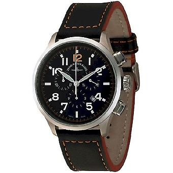 Zeno-watch mens watch retro Tre pilot chronograph quartz 6302-5030Q-a15