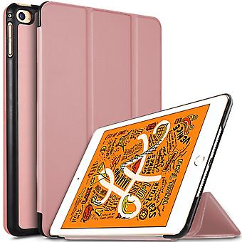 iPad mini 2019/Mini 4 slim fit Tri-Fold Case-Rose goud