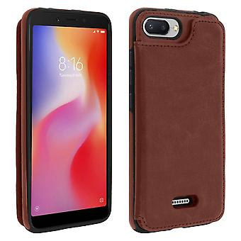 Xiaomi Redmi 6 / 6A Shockproof Case, Card Holder Wallet, Forcell, Brown