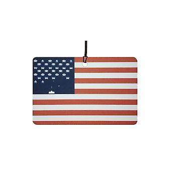 USA lippu Space Invaders auton ilmanraikastustuotteiden