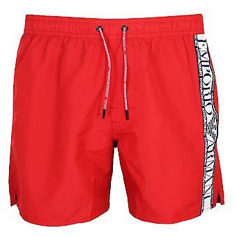 إمبريو أرماني الرجال & apos;s السراويل السباحة الحمراء