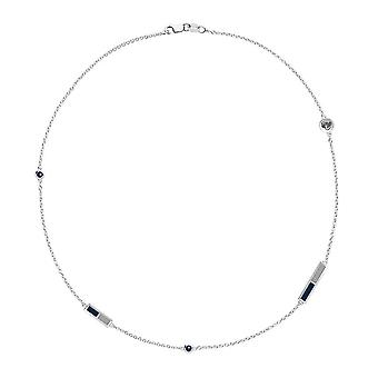 Xavier University Sapphire Chain Necklace In Sterling Silver Design by BIXLER