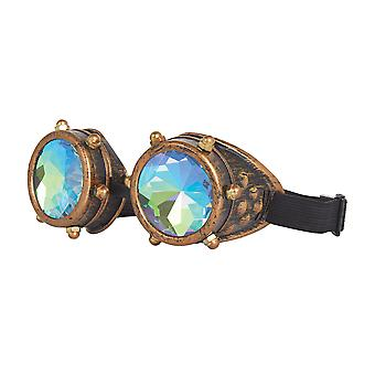 Bristol Novelty Unisex Adults Steampunk Kaleidoscope Goggles