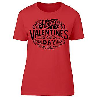 Valentines Day Lettering Graphic Tee Women's -Image by Shutterstock