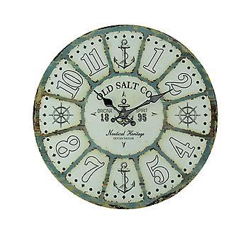 Старая Соль Co выветривания древесины морских настенные часы