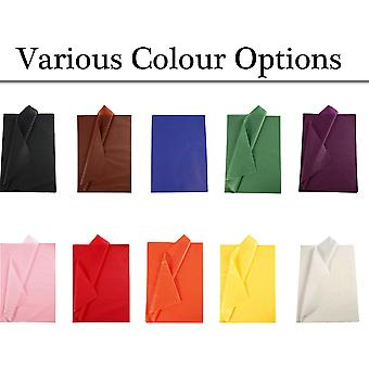 25 Full Sheets No Folds Tissue Paper - Choice of Colour | Gift Wrap Supplies