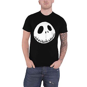The Nightmare Before Christmas T Shirt Cracked Face new Official Mens Black